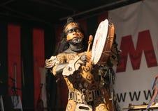 Povoado indígeno mexicano Maya de Xcaret do grupo Fotografia de Stock Royalty Free