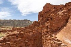 Povoado indígeno no parque nacional de Wupatki imagens de stock royalty free
