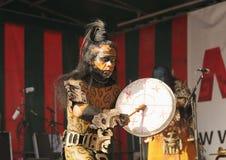 Povoado indígeno Maya de Xcaret Imagens de Stock Royalty Free