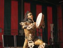 Povoado indígeno mexicano Maya de Xcaret do grupo Imagem de Stock Royalty Free