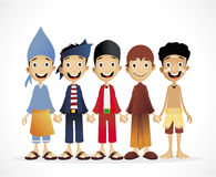 Povos étnicos indonésios Imagem de Stock Royalty Free