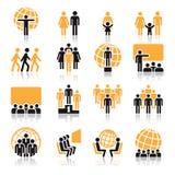 Povos, ícones ilustração royalty free