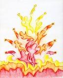 Povos 2 da flama ilustração stock