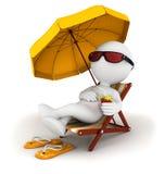 povos 3d brancos nas férias Imagens de Stock