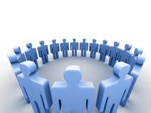 povos 3d em um círculo ilustração do vetor