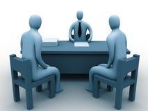 povos 3d em um escritório Imagens de Stock