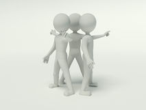 povos 3d que trabalham no grupo ilustração stock