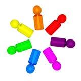 Povos 5 do arco-íris Imagens de Stock