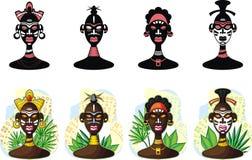 Povos africanos Imagem de Stock