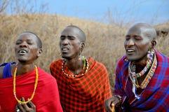 Povos africanos do tribo do Masai fotografia de stock royalty free