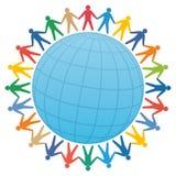 povos & globo/vetor da cor Foto de Stock Royalty Free