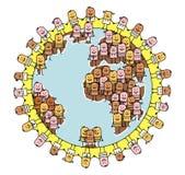 Povos & mundo ilustração do vetor
