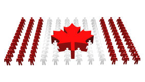 Povos canadenses - bandeira de Canadá Foto de Stock Royalty Free