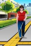 Povos cegos que andam no passeio Fotografia de Stock