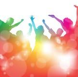 Povos Cheering no festival Imagens de Stock Royalty Free