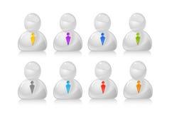 Povos cinzentos no jogo do ícone dos laços Foto de Stock Royalty Free