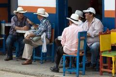 Povos colombianos foto de stock royalty free