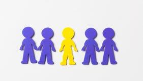 Povos coloridos da espuma no fundo branco Fotografia de Stock Royalty Free