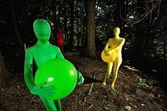 Povos coloridos da floresta Foto de Stock Royalty Free