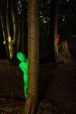 Povos coloridos estranhos na floresta Foto de Stock