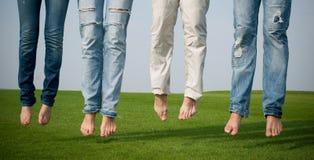 Povos com calças de brim Imagem de Stock Royalty Free
