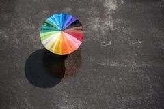 Povos com guarda-chuva Fotografia de Stock