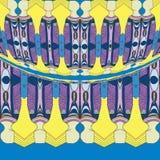 Povos com roupa colorida ilustração royalty free