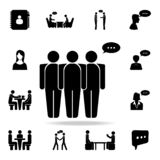 povos com um ícone da bolha de uma comunicação Grupo detalhado de ícones da conversação Projeto gráfico superior Um dos ícones da ilustração royalty free