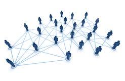Povos conectados Imagens de Stock