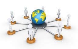 Povos conectados ao mundo Foto de Stock Royalty Free