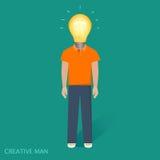 Povos criativos, lâmpada, ideia Foto de Stock Royalty Free