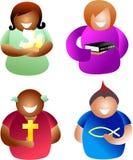 Povos cristãos ilustração royalty free