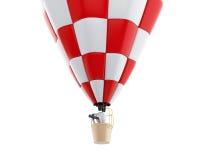 povos 3d brancos no ballon do ar quente com binóculos Imagem de Stock