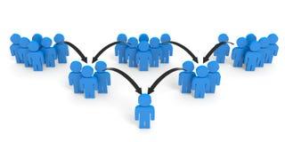 povos 3d Conceito de uma comunicação Foto de Stock Royalty Free