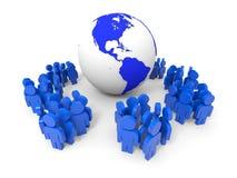 povos 3d Conceito social da rede Fotos de Stock Royalty Free