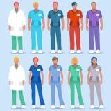 Povos 2D do hospital 01 Imagens de Stock