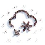 Povos 3d do tempo da nuvem Fotografia de Stock