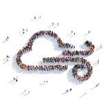 Povos 3d do tempo da nuvem Imagens de Stock Royalty Free