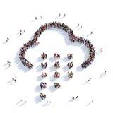Povos 3d do tempo da nuvem Imagem de Stock Royalty Free