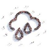 Povos 3d do tempo da nuvem Imagens de Stock