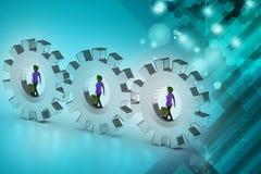 povos 3d na engrenagem, conceito do trabalho da equipe Imagens de Stock