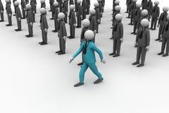 povos 3d no grupo Imagem de Stock