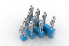 povos 3d no grupo, conceito da liderança Imagem de Stock