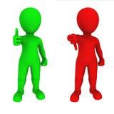 povos 3d pequenos Sim e no Imagem de Stock Royalty Free