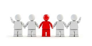povos 3d que tomam as mãos no trabalho da equipe Imagem de Stock Royalty Free