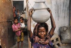 Povos da área das minas de carvão de Jharia em India Foto de Stock