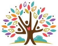 Povos da árvore da comunidade Fotografia de Stock