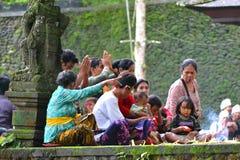 Povos da cerimônia do Balinese Fotografia de Stock Royalty Free