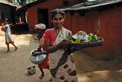 Povos da floresta de India Fotografia de Stock