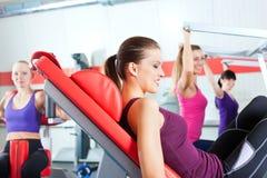 Povos da ginástica que fazem o treinamento da força ou da aptidão Imagem de Stock